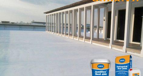 Phương pháp chống thấm sàn mái bằng Vật liệu Amix